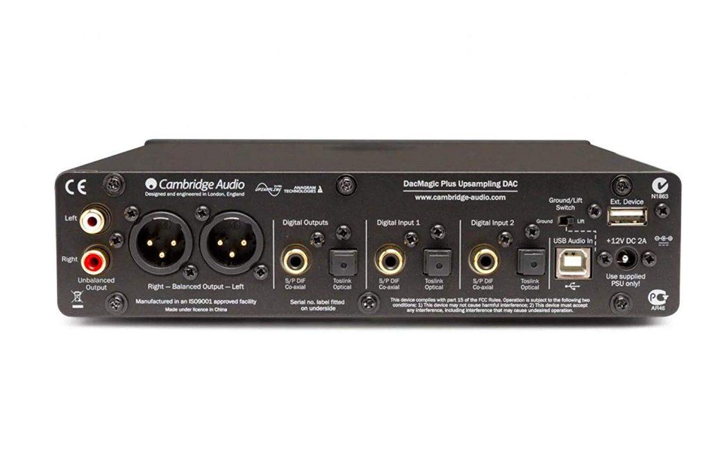 Cambridge Audio DacMagic Plus (rear)